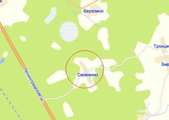 дер. Селевино на карте