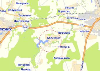село Селинское на карте