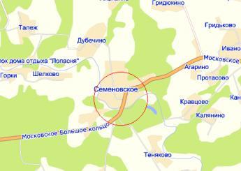 село Семёновское на карте