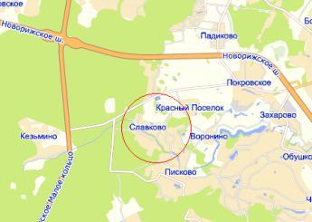 дер. Славково на карте