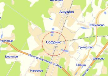 пос. Софрино на карте