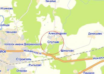 пос. Спутник на карте