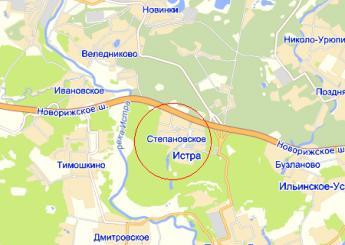 дер. Степановское на карте