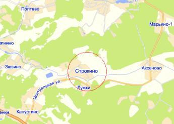 село Строкино на карте