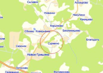 дер. Сурмино на карте