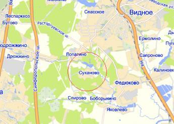 дер. Суханово на карте