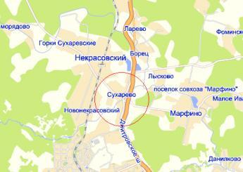 дер. Сухарево на карте