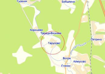 дер. Тарусово на карте