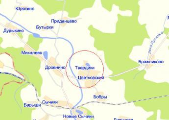 дер. Твердики на карте