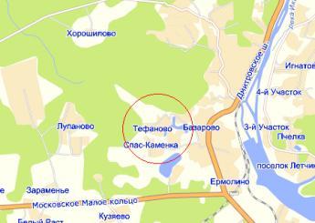 дер. Тефаново на карте