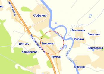 дер. Тимонино на карте