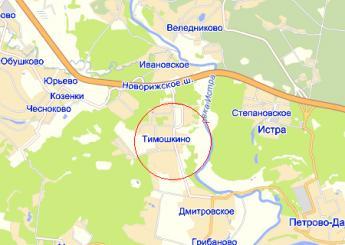 дер. Тимошкино на карте