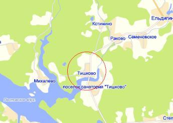 село Тишково на карте