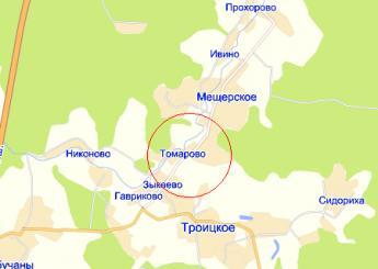 дер. Томарово на карте