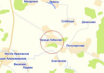 село Троице-Лобаново на карте