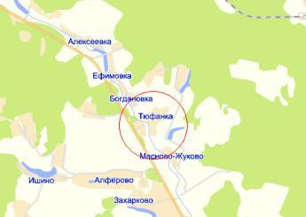 дер. Тюфанка на карте