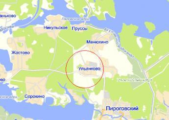 дер. Ульянково на карте