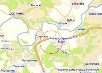 село Успенское на карте
