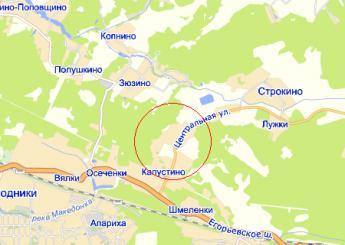 дер. Устиновка на карте