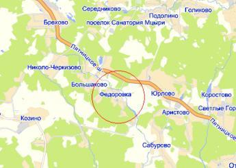 дер. Фёдоровка на карте
