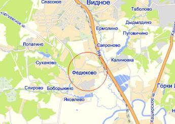 дер. Федюково на карте