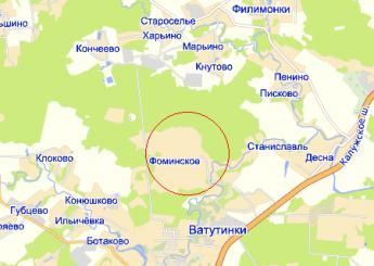 дер. Фоминское на карте