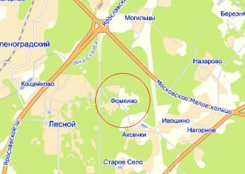 дер. Фомкино на карте