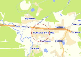 дер. Большое Буньково на карте