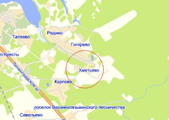 дер. Хметьево на карте