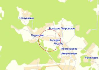 дер. Ходаево на карте