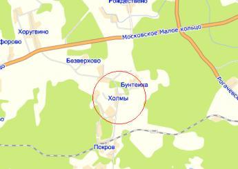 дер. Холмы на карте