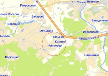 дер. Чесноково на карте