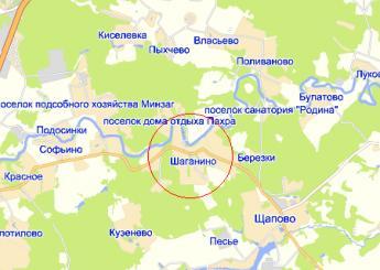 дер. Шаганино на карте