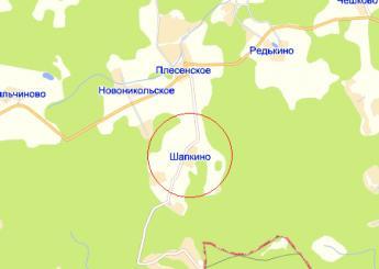 дер. Шапкино на карте