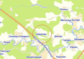 дер. Шарапово на карте