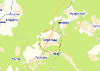 село Шарапово на карте