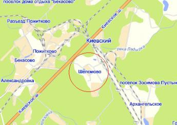 дер. Шеломово на карте