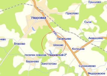 дер. Шохово на карте