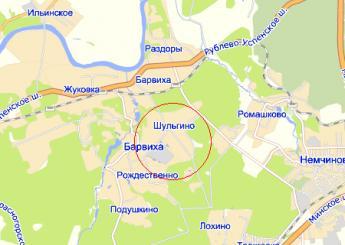 дер. Шульгино на карте