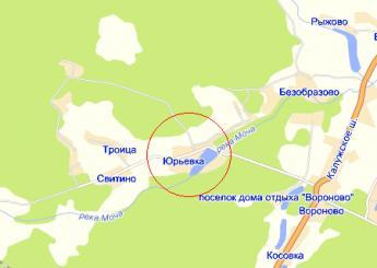 дер. Юрьевка на карте