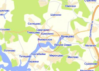 дер. Якиманское на карте