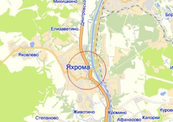 г. Яхрома на карте