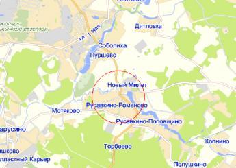 дер. Русавкино-Романово на карте