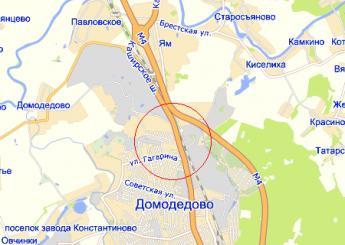 г. Домодедово на карте