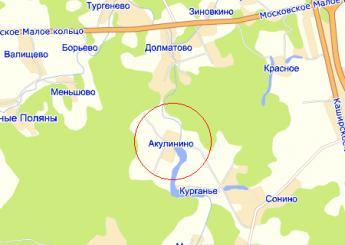дер. Акулинино на карте