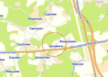 дер. Зиновкино на карте