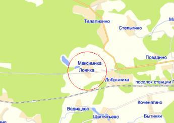 дер. Максимиха на карте