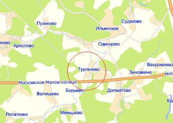 дер. Тургенево на карте
