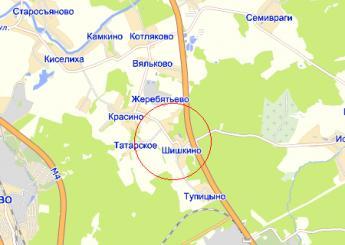 дер. Шишкино на карте