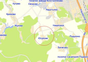 дер. Юсупово на карте